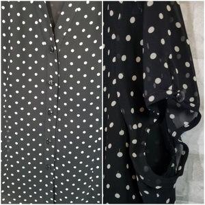 Nine West Skirts - Nine west blouse/skirt set size 14 polka dots
